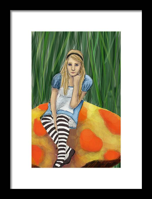 Framed Print featuring the digital art Alice In Wonderland by Aimee Helsper