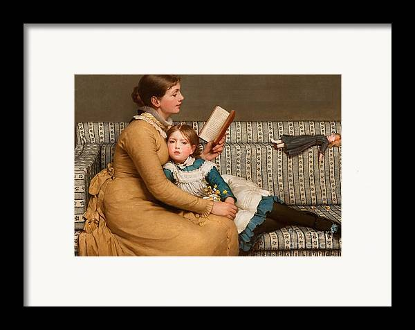 Alice In Wonderland Framed Print featuring the painting Alice In Wonderland by George Dunlop Leslie