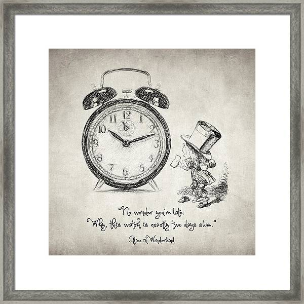 Alice In Wonderland Quote Framed Print By Zapista Zapista