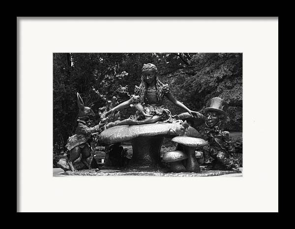Lewis Carroll Framed Print featuring the photograph Alice In Wonderland Sculpture Central Park by Christopher Kirby
