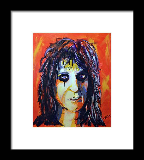 Alice Framed Print featuring the painting Alice by Lee Wolf Winter