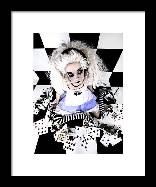 Alice In Wonderland Framed Print featuring the photograph Alice1 by Kelly Jade King