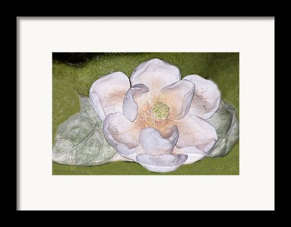 Flower Framed Print featuring the digital art Alien Bloom by Chuck Shafer