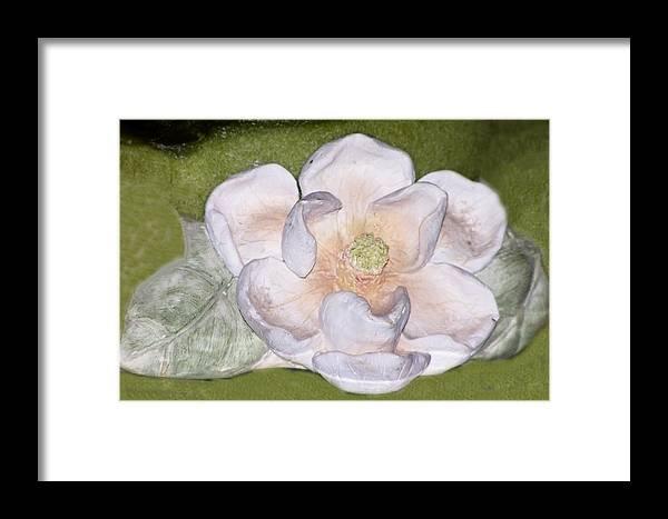 Flower Framed Print featuring the digital art Alien Bloom by Chuck Shafer