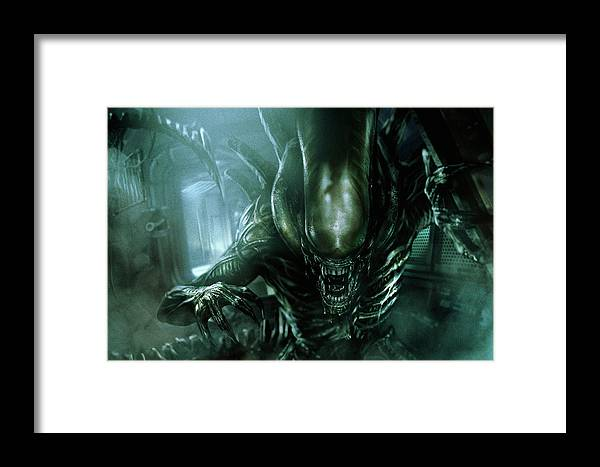 Alien Framed Print featuring the mixed media Alien Covenant by Movie Poster Prints