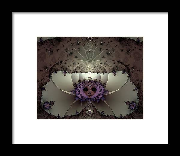 Abstract Framed Print featuring the digital art Alien Exotica by Casey Kotas