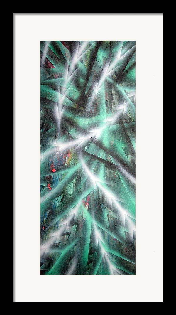 Forest Framed Print featuring the painting Alien Forest by Leigh Odom
