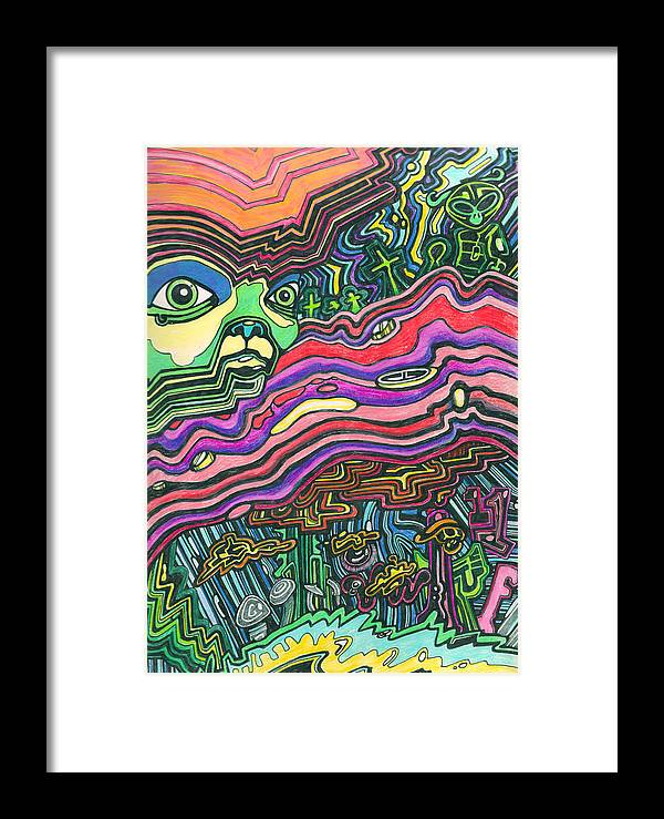 Alien Framed Print featuring the mixed media Alien Nation by James Hammons