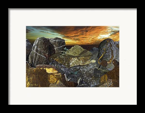 Fantasy Framed Print featuring the digital art Alien Riff by Helga Schmitt