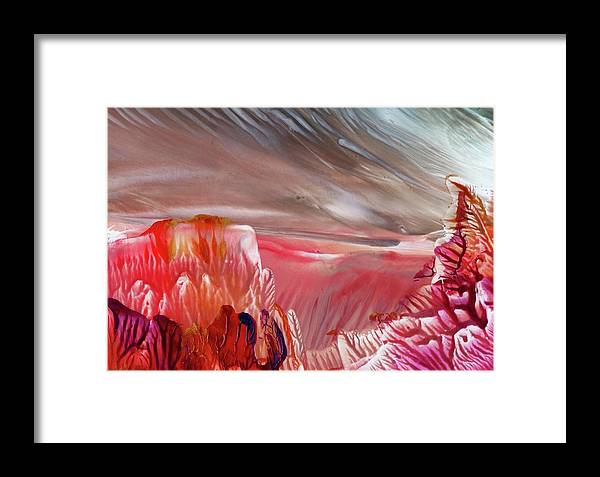 Fantasy Framed Print featuring the painting Alien World by Angelina Whittaker Cook
