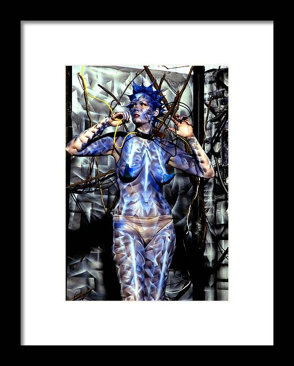 Body Paint Framed Print featuring the painting Alive by Leigh Odom