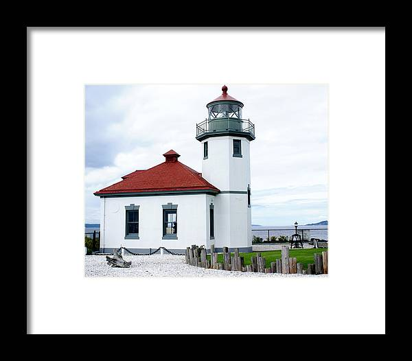 Seattle Framed Print featuring the photograph Alki Light by Sonja Anderson
