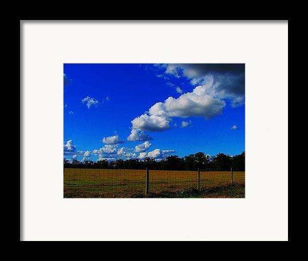 Clouds Framed Print featuring the photograph All About Clouds by Judy Waller