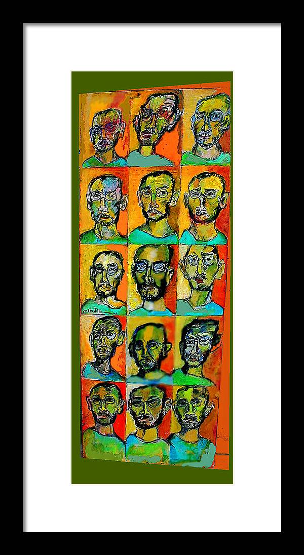 Self Portraits Framed Print featuring the mixed media All About Me by Noredin Morgan