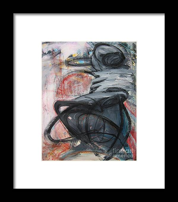 Abstract Paintings Paintings Framed Print featuring the painting All Alone by Seon-Jeong Kim