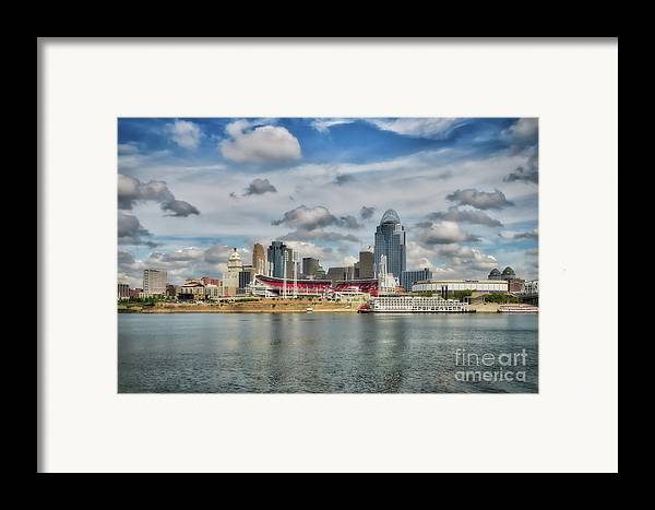 Cincinnati Framed Print featuring the photograph All American City 2 by Mel Steinhauer
