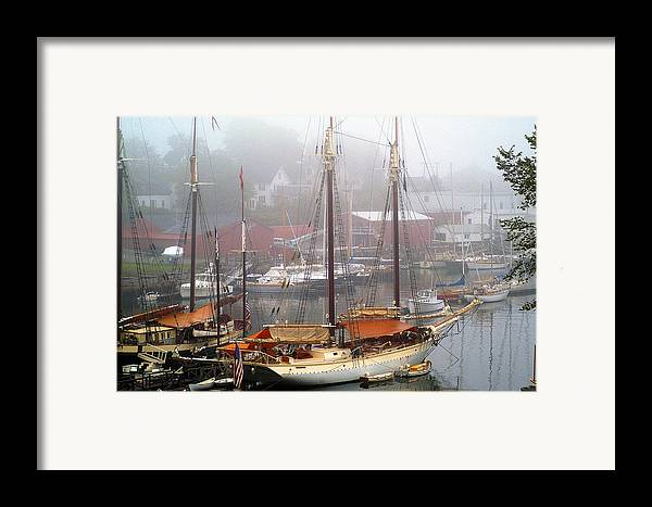 Boats Framed Print featuring the photograph All Dressed Up...nowhere To Go by Neil Doren