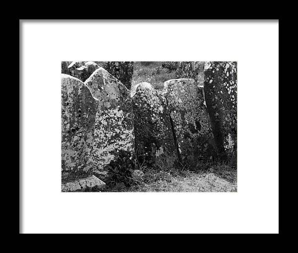 Ireland Framed Print featuring the photograph All In A Row At Fuerty Cemetery Roscommon Ireland by Teresa Mucha
