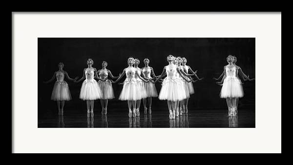 Dance Framed Print featuring the photograph All In A Row by Kenneth Mucke