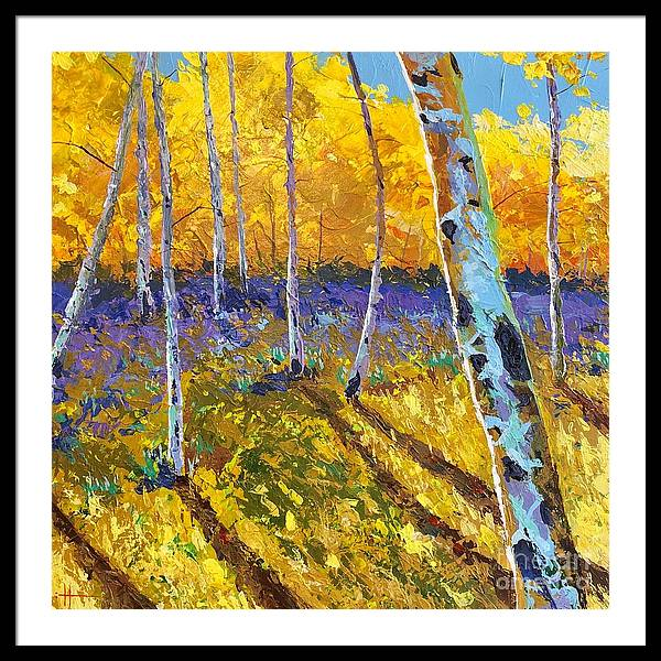 Aspen Framed Print featuring the painting All In The Golden Afternoon by Hunter Jay