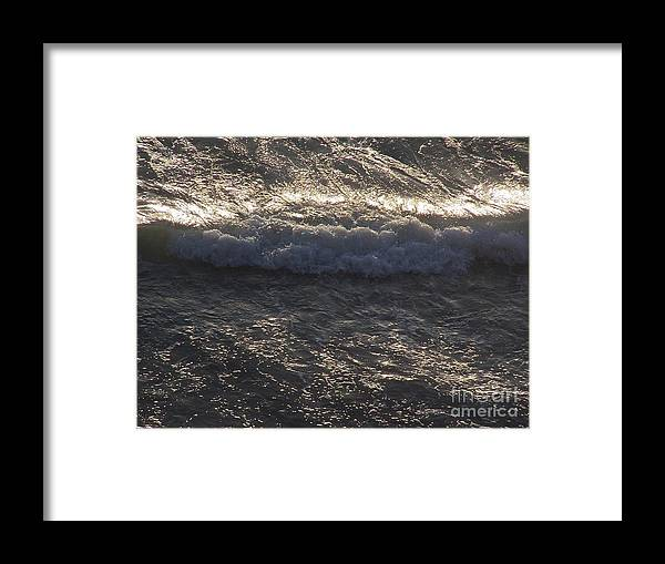 Ocean Framed Print featuring the photograph All My Yesterdays by Brian Commerford