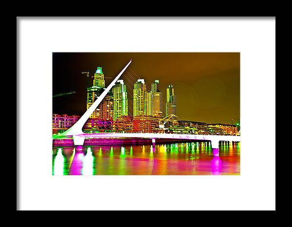 Buenos Framed Print featuring the photograph All Night Puerto Madero by Francisco Colon