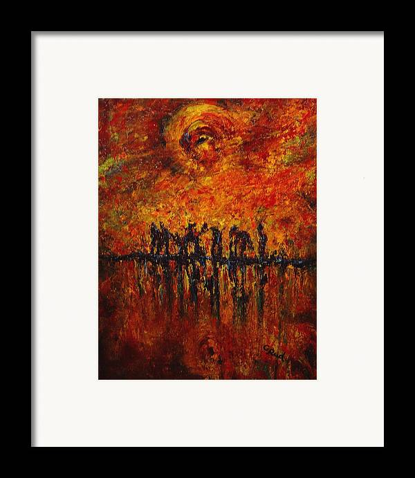 Landscape Framed Print featuring the painting All Of Them by David Grudniski