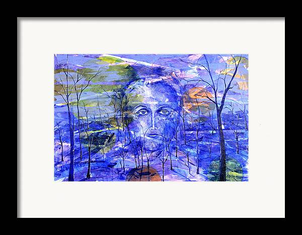 New Age Framed Print featuring the painting All Roads Lead To You by Rollin Kocsis