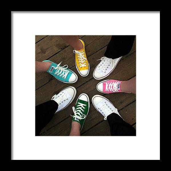 Sneakers Framed Print featuring the photograph All Stars Ready For The Prom by Rebecca Smith
