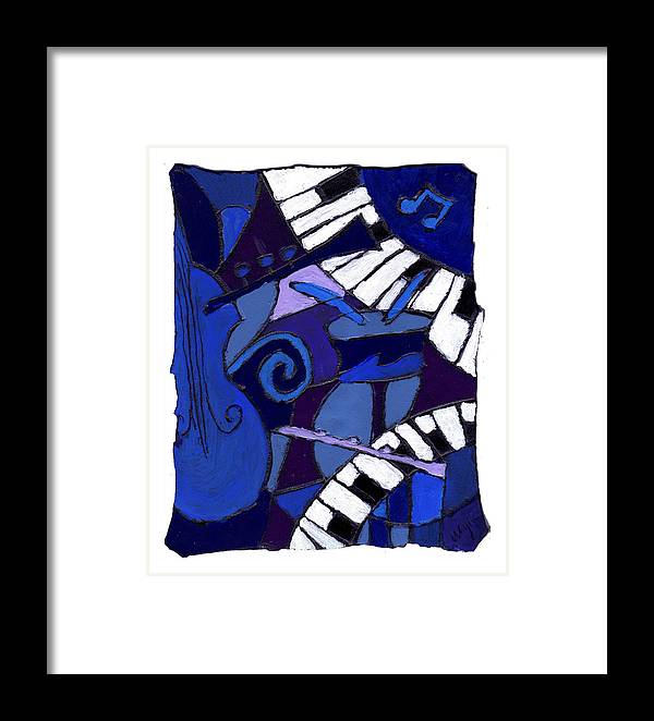 Jazz Framed Print featuring the painting All That Jazz 3 by Wayne Potrafka