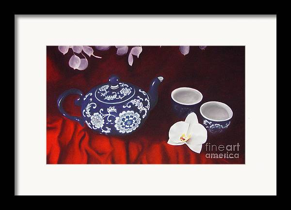 Still Life Framed Print featuring the painting All The Tea In China by Colleen Brown