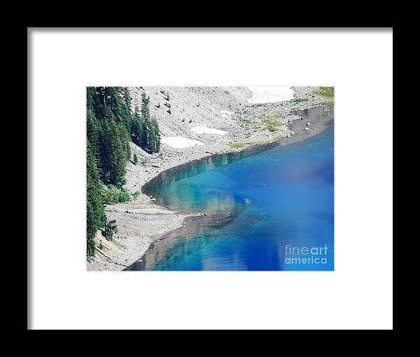 Crator Lake Oregon Framed Print featuring the photograph All This In The Usa by L Cecka