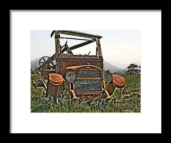 Trucks Framed Print featuring the photograph All Used Up by Peter Schumacher