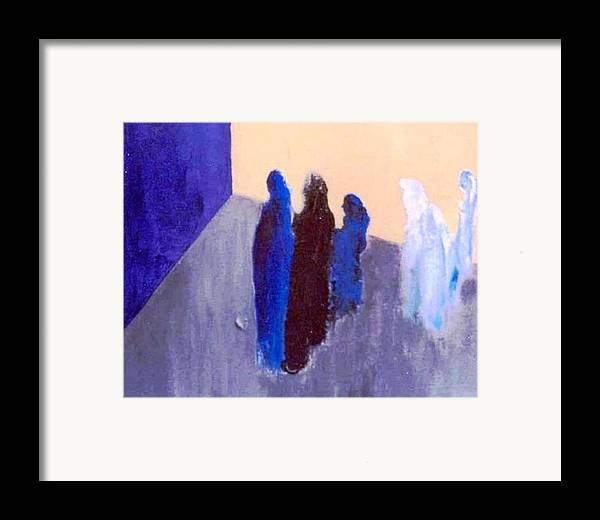 Blue Framed Print featuring the painting All We Are Saying. . . by Bruce Combs - REACH BEYOND