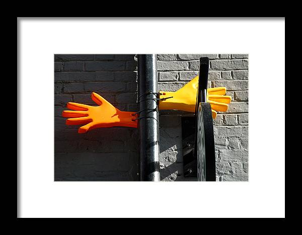 Jez C Self Framed Print featuring the photograph All You Need Is Gloves by Jez C Self
