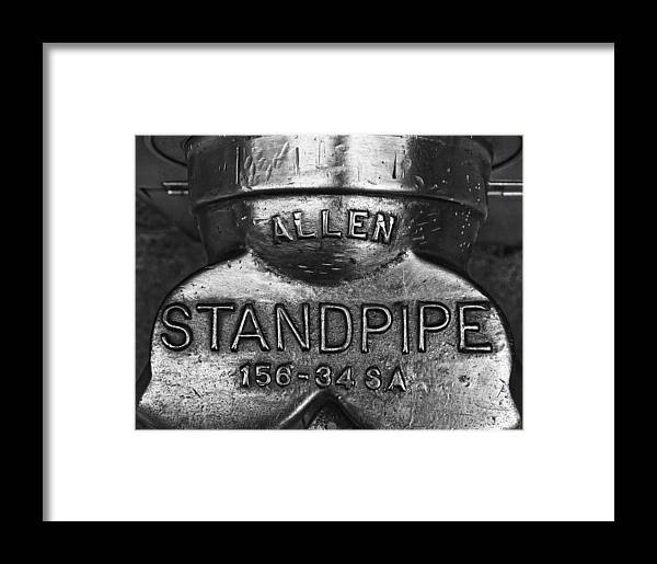 Black And White Framed Print featuring the photograph Allen Standpipe by Robert Ullmann