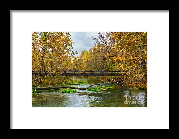 Alley Mill Framed Print featuring the photograph Alley Spring River by Jennifer White