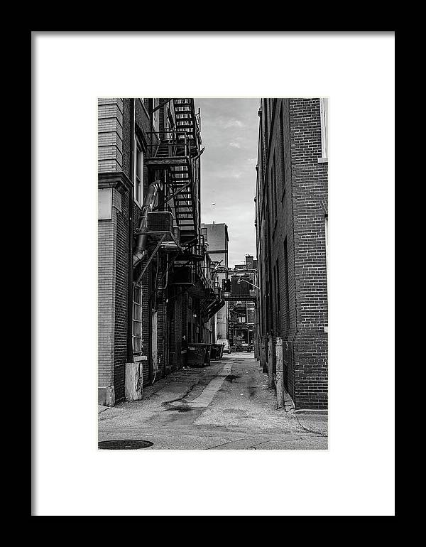Alley Framed Print featuring the photograph Alleyway II by Break The Silhouette
