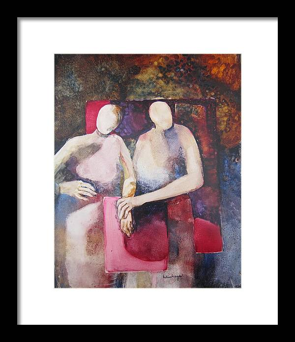 Abstract Framed Print featuring the painting Allied by Helen Hayes