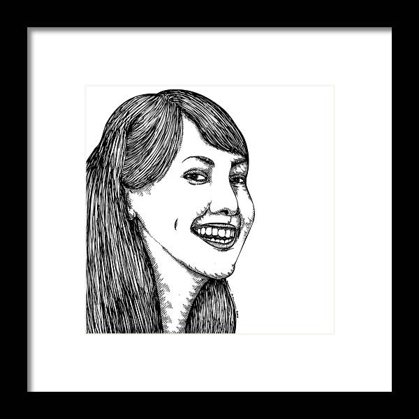Drawing Framed Print featuring the drawing Allison by Karl Addison