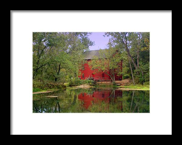Alley Spring Framed Print featuring the photograph Allsy Sprng Mill 2 by Marty Koch