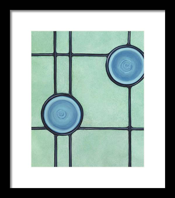 Circles Framed Print featuring the painting Allure by Don Mullins