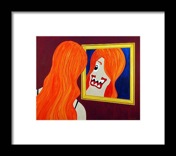 Funism Framed Print featuring the painting Allure by Sal Marino