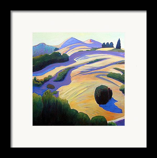 Hills Framed Print featuring the painting Alluring Windy Hill by Gary Coleman