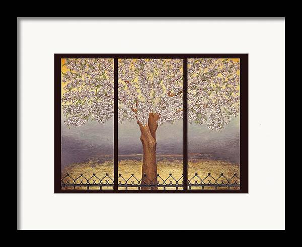 Almond Framed Print featuring the painting Almond Tree by Barbara Gerodimou