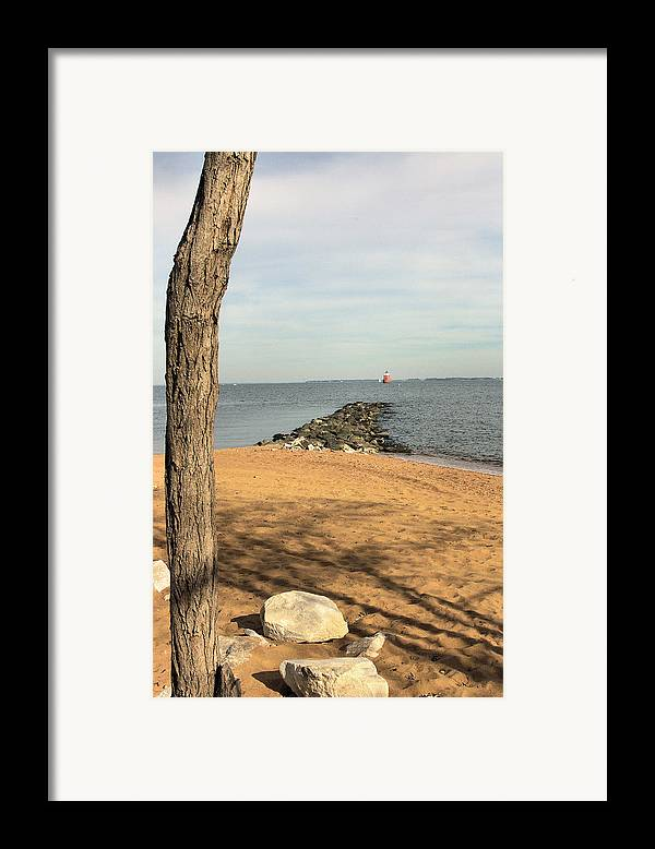 Landscape Framed Print featuring the photograph Almost A Bridge by Steve Kenney