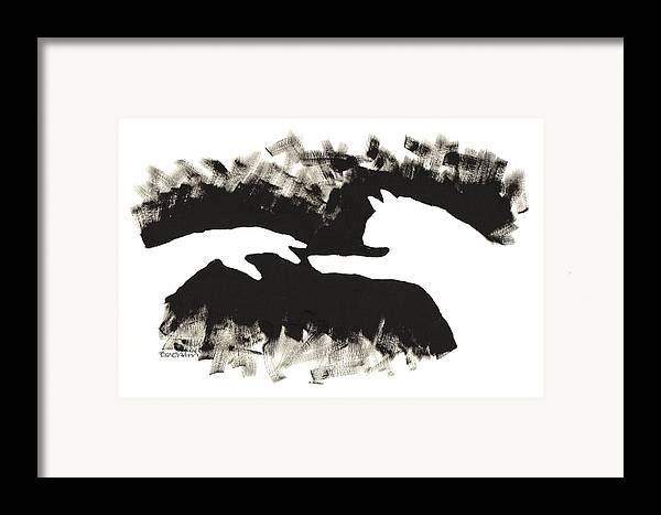 Hand Framed Print featuring the painting ...almost... by Bari Titen