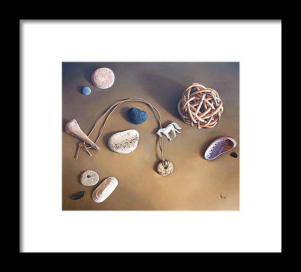 Still Life Framed Print featuring the painting Almost Forgotten Memories by Elena Kolotusha