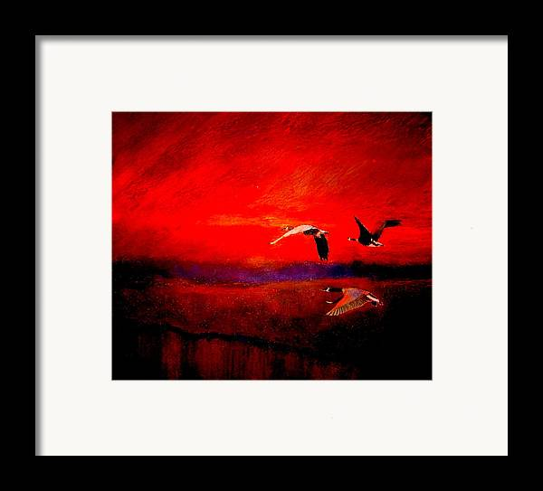 Landscape Framed Print featuring the painting Almost Home by Kent Whitaker