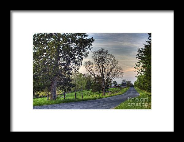 Virginia Framed Print featuring the photograph Almost Home by Pete Hellmann